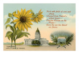 Sunflower, Kansas Capitol, Poem Prints