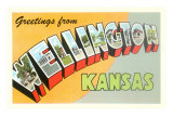 Greetings from Wellington, Kansas Print