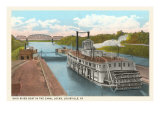 Riverboat in Locks, Louisville, Kentucky Posters