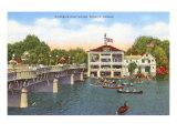 Riverside Boat House, Wichita, Kansas Posters