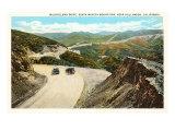 Mulholland Drive, Santa Monica, California Prints