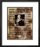 Principals of Music, Handel Print by Susan Hartenhoff