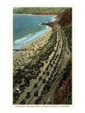 Beach and Palisades, Santa Monica, California Print