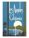 Graphic of Los Angeles Bay, California Prints