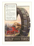 Kelly Tires, Tractor Hauling Logs Prints