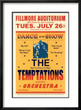 The Temptations, Fillmore Auditorium, 1966 Posters