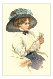 Victorian Lady in Hat Posters