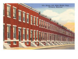 Row Houses, Baltimore, Maryland Prints
