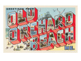 Greetings from Old Orchard Beach, Maine Print