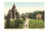 Wooden Church in Christiana (Oslo), Norway Print