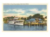 Landing Dock, Peaks Island, Maine Posters