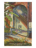 Courtyard, Claiborne Home, New Orleans, Louisiana Prints