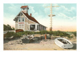 Life Saving Station, Popham Beach, Maine Posters