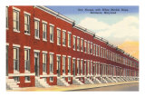 Row Houses, Baltimore, Maryland Posters