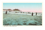 Surf Scene, Old Orchard, Maine Poster