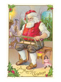 A Merry Christmas, Santa in Workshop Posters