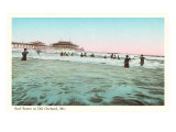 Surf Scene, Old Orchard, Maine Posters