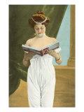 Victorian Woman Reading Art