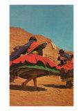 Folk Dancing in Bolivia Poster