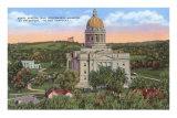 Frankfort State Capitol, Kentucky Art Print