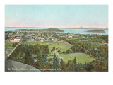Overview of Bar Harbor, Maine Poster