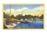 Harbor at Cambridge, Maryland Poster