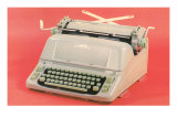 Manual Typewriter with Pink Background Posters