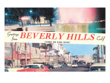 Greetings from Beverly Hills, Los Angeles, California Posters