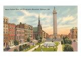 Washington Monument, Baltimore, Maryland Prints