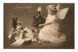 Joyeux Noel, Angel with Toys and Tree Prints