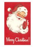Merry Christmas. Winking Santa Claus Poster