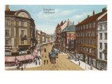 Vesterbro Street, Copenhagen, Denmark Print