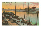 Docks, Baltimore, Maryland Prints