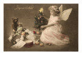 Joyeux Noel, Angel with Toys and Tree Posters