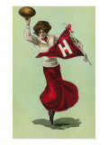 Harvard Cheerleader, Cambridge, Massachusetts Prints