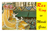 Rex King, Mardi Gras, New Orleans, Louisiana, Art Print