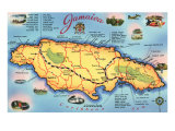 Map of Jamaica Art