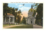 Chapel and Bandstand, USNA, Annapolis, Maryland Prints