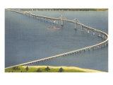 Chesapeake Bay Bridge, Annapolis, Maryland Kunstdrucke