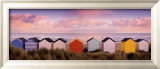Winter Beach Huts, Southwold Poster by Rod Edwards