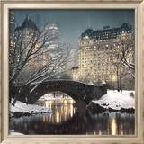 Dämmerung im Central Park Poster von Rod Chase