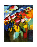 Murnau-Garden II, 1910 ポスター : ワシリー・カンディンスキー