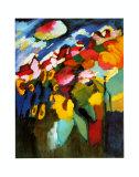 Murnau-Garten II, 1910 Póster por Wassily Kandinsky