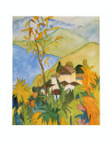 Village Above the Lake Print by Hermann Hesse