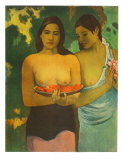 Women with Mangoes Reproductions pour les collectionneurs par Paul Gauguin