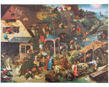 The Dutch Proverbs Affiches par Pieter Bruegel the Elder