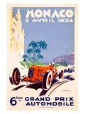 Grand Prix de Monaco,1934 Reproduction procédé giclée par Geo Ham