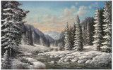 Winter in Sibirien Posters af Helmut Glassl