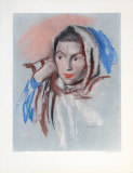 Portrait of a Girl Collectable Print by Josef Dobrowsky