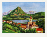 St-Wolfgang at the Wolfgangsee Collectable Print by Singer